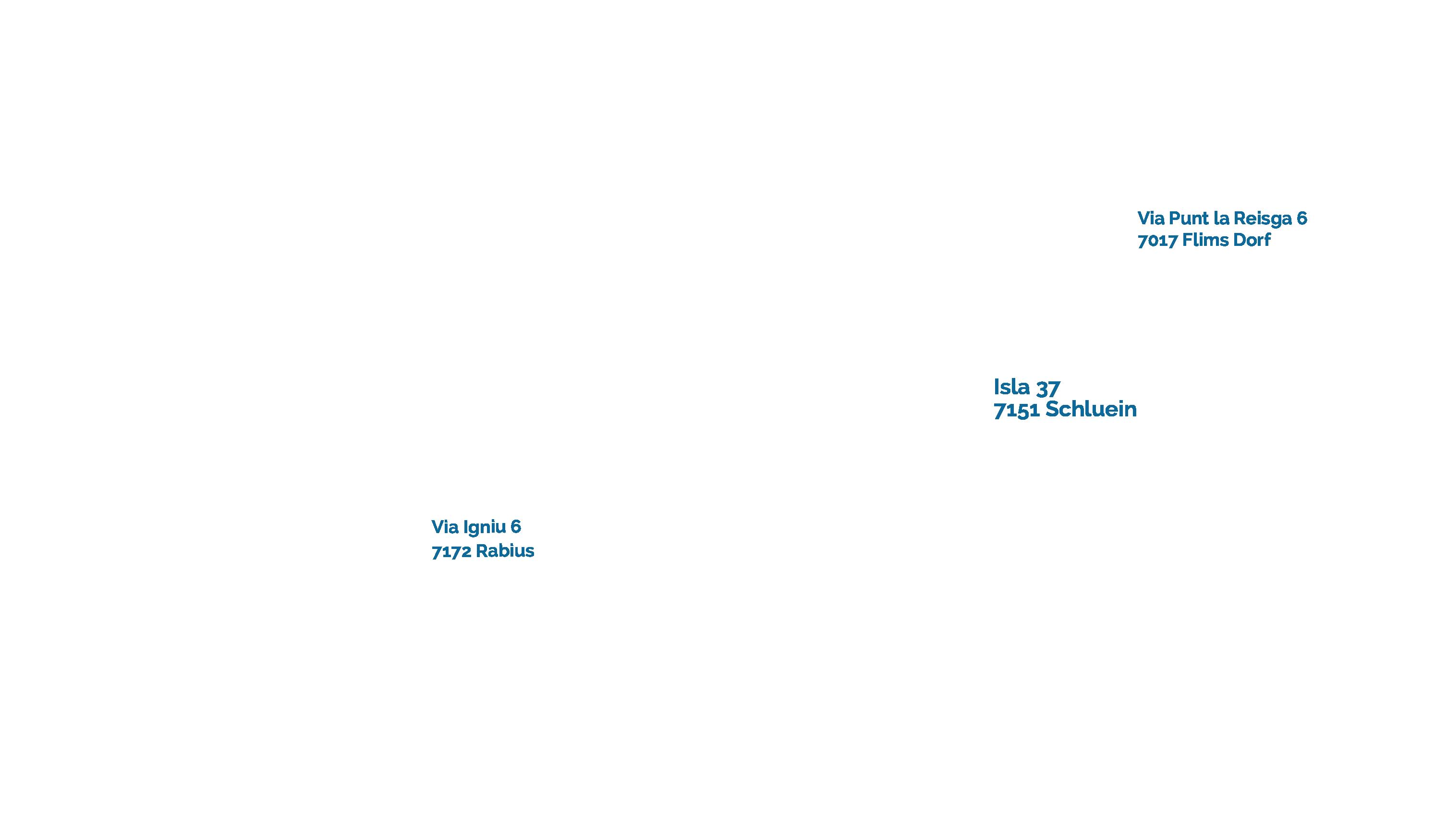 Karte mit Einzugsgebiet Kanalservice Surselva